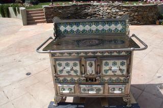1800 ' S Belgian Dutch Antique Cooktop Stove Oven Art Nouveau photo