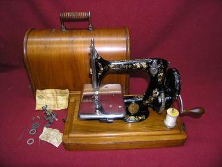 Rare 1892 Singer Chain Stitch Hand Crank Model 24 - 2 Sewing Machine Pat ' D 1886 photo