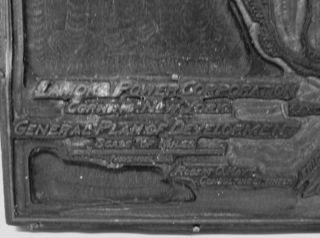 Corning Ny Lamoka Power Map 1916 Printers Block Keuka Lake photo