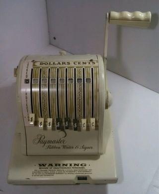 1968 Paymaster Series 875 Ribbon Writer & Signer Check Machine - photo