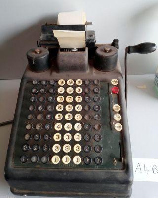 Vintage Antique Burroughs Class 9 Portable Adding Machine 1932 Tins A4b photo