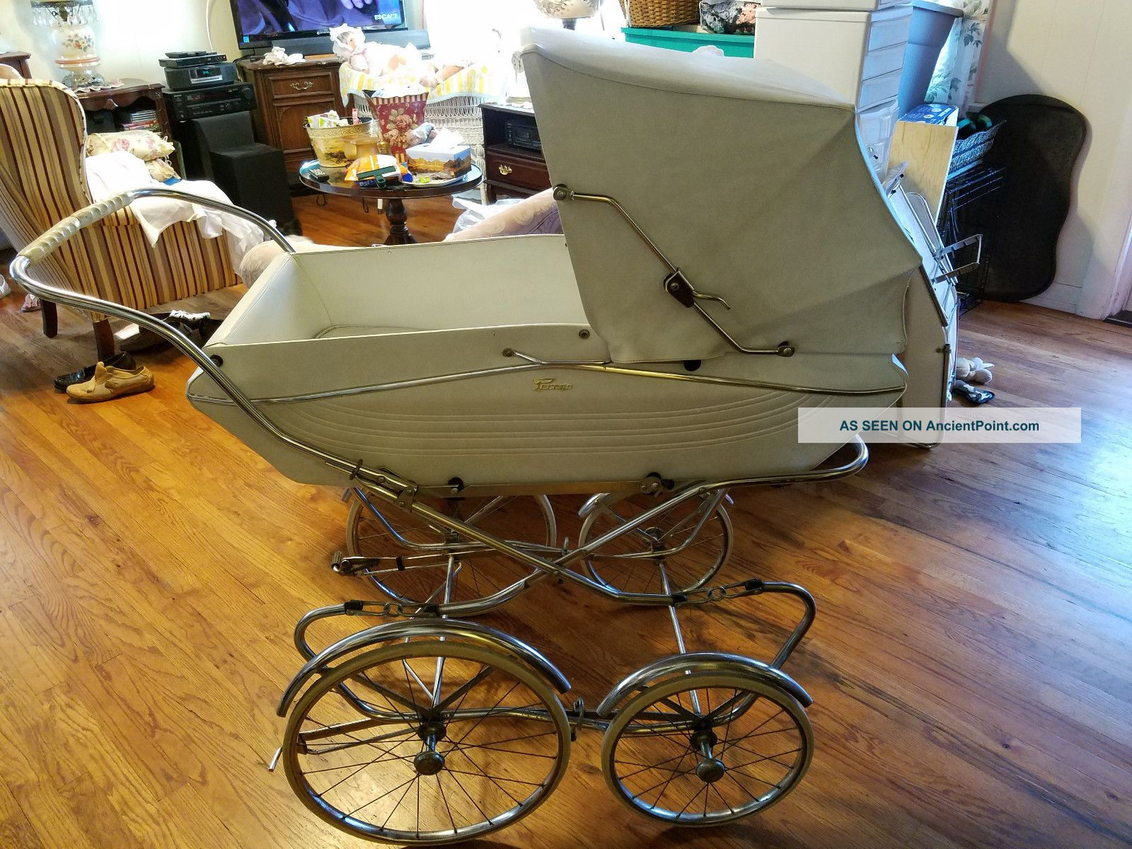 W@w Vtg Italian Perego Pram Carriage & Stroller Combo Baby Carriages & Buggies photo