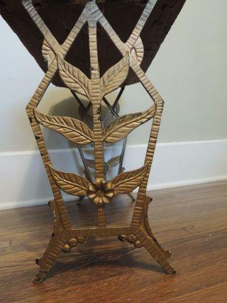 Art Deco Cast Iron Bench photo