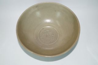 A Rare Song - Yuan Dynasty Longquanlarge Celadon Bowl With Stamp 2 Fish Motif photo