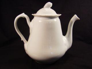 Old Parisporcelain Gourd Finial Teapot & Cover 8 1/4