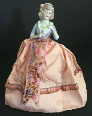 Antique French Fashion Pin Cushion Half Doll ' The Love Letter ' Paris Apt Ar1102 photo