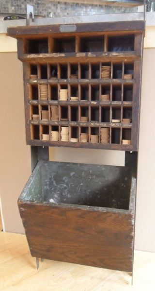 Rare 1933 U.  S.  Post Office Hanging Mail Sorter Stamp Card Holder W/ Cards photo