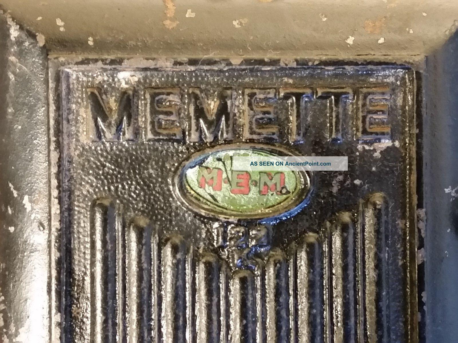 Vintage Art Deco Fuse Box Cast Iron Memette 15 Amp Steampunk