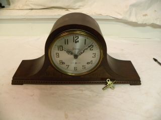 Antique American Sessions Westminster Chime Fine Parlor Clock And Running photo