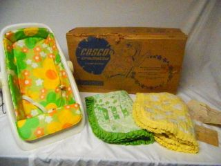 Vintage 1970 ' S Infant Baby Plastic Cosco Cradlette Cradle Carrier Seat W/covers photo