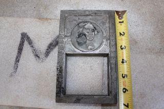 Letterpress Printing Printers Block George Washington Lead Dollar Bill Photo photo