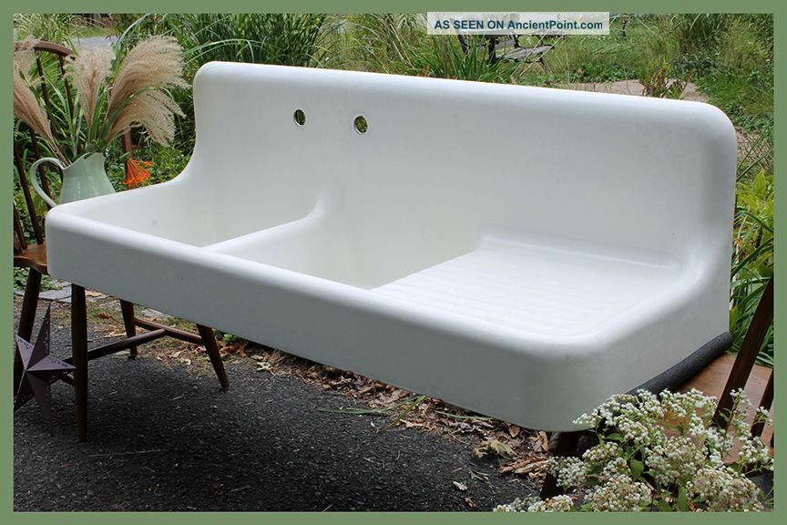 Dual Basin With Drainboard 1927 Standard Antique Vintage Farmhouse Farm Sink Sinks photo