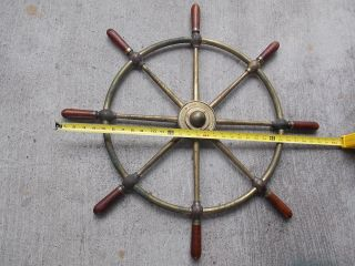 Brown Bros & Co Rosebank Ironworks Edinburgh Ships Helm Wheel 30