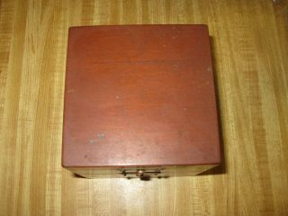 V69 Elgin Mounted Chronometer 1942 Us Navy Clock W/original Mahogany Box photo