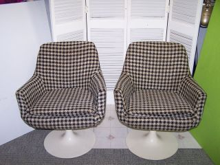 2 Vintage 1970 ' S Daystrom Furniture Boston Sarinen - Burke Style Tulip Base Chairs photo