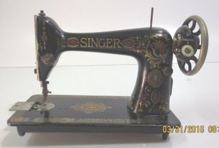 Vintage Singer Sewing Machine Model 66 May 1922 Treadle photo