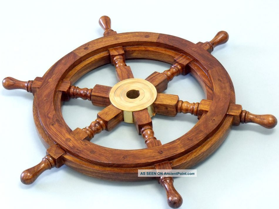 Authentic Boat Ships Captains Nautical Ship Wheel 24
