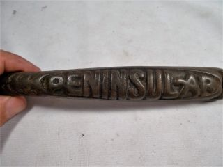 Vintage Old Peninsular Cast Iron Cook Heat Stove Parlor Stove Lid Lifter Handle photo