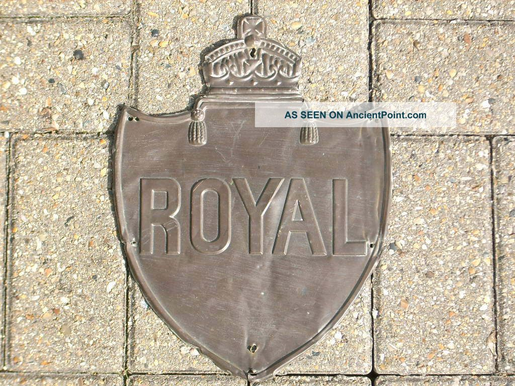 Royal Insurance (liverpool) Fire Mark In Copper. ,  No Res Plaques photo
