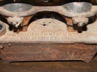 A.  J Lindemann & Hoverson Co.  Sad Iron Heater,  Two Wicks photo