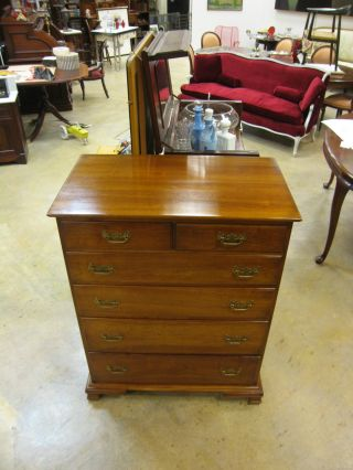 Vtg Mid Century 1956 L & Jg Stickley Solid Cherry Chest Leopold Stickley Origina photo