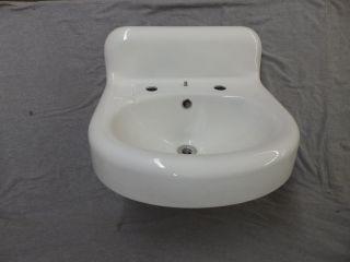 Antique Cast Iron White Porcelain Sink Bathroom Lavatory Old Vtg Plumbing 923 - 16 photo