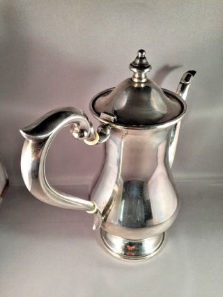 Westmorland Sterling Silver Coffee Pot Tea 578 Grams Antique photo