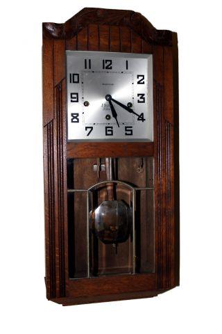 France Quater Strike Antique Wall Clock Mougel Cca 1930,  Westminster photo