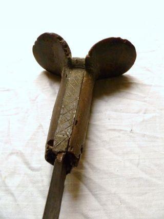 No.  3.  Antique Ottoman Eared Yatagan Sword Caucasian Muslim Turkish Sabre Kindjal photo
