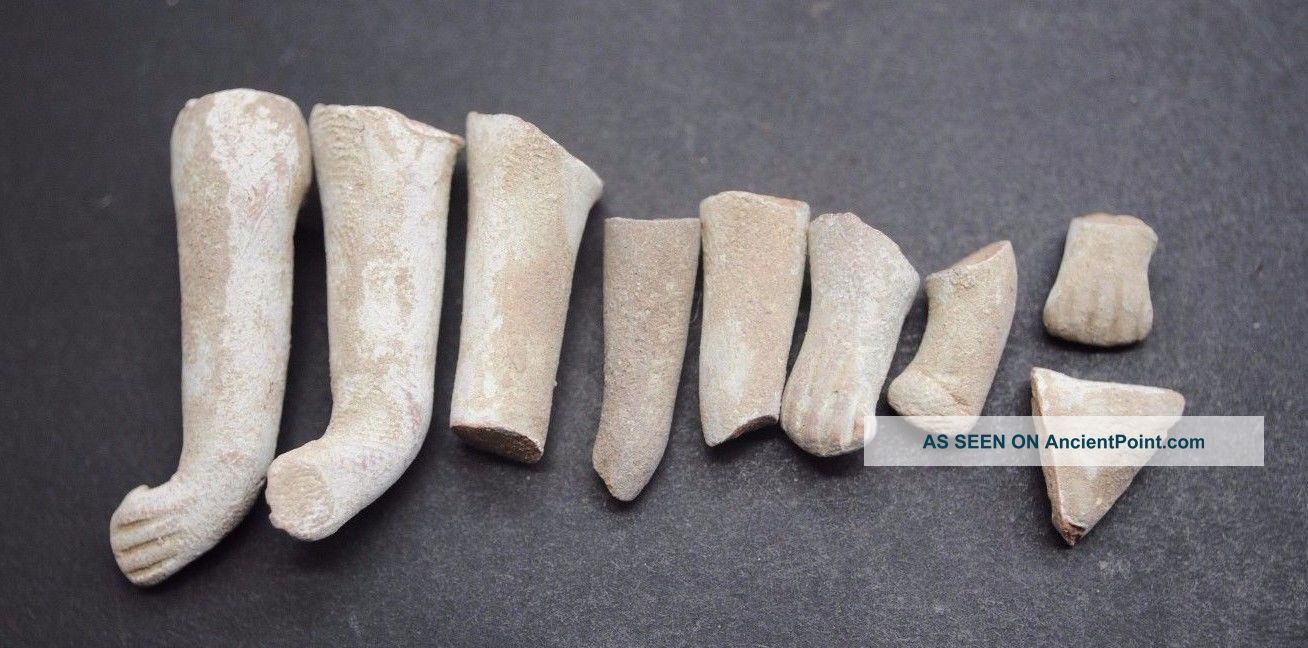 Group Of Indus Valley Fertility Idol Arms From The Harappa Culture 3300 - 1200 Bc Near Eastern photo