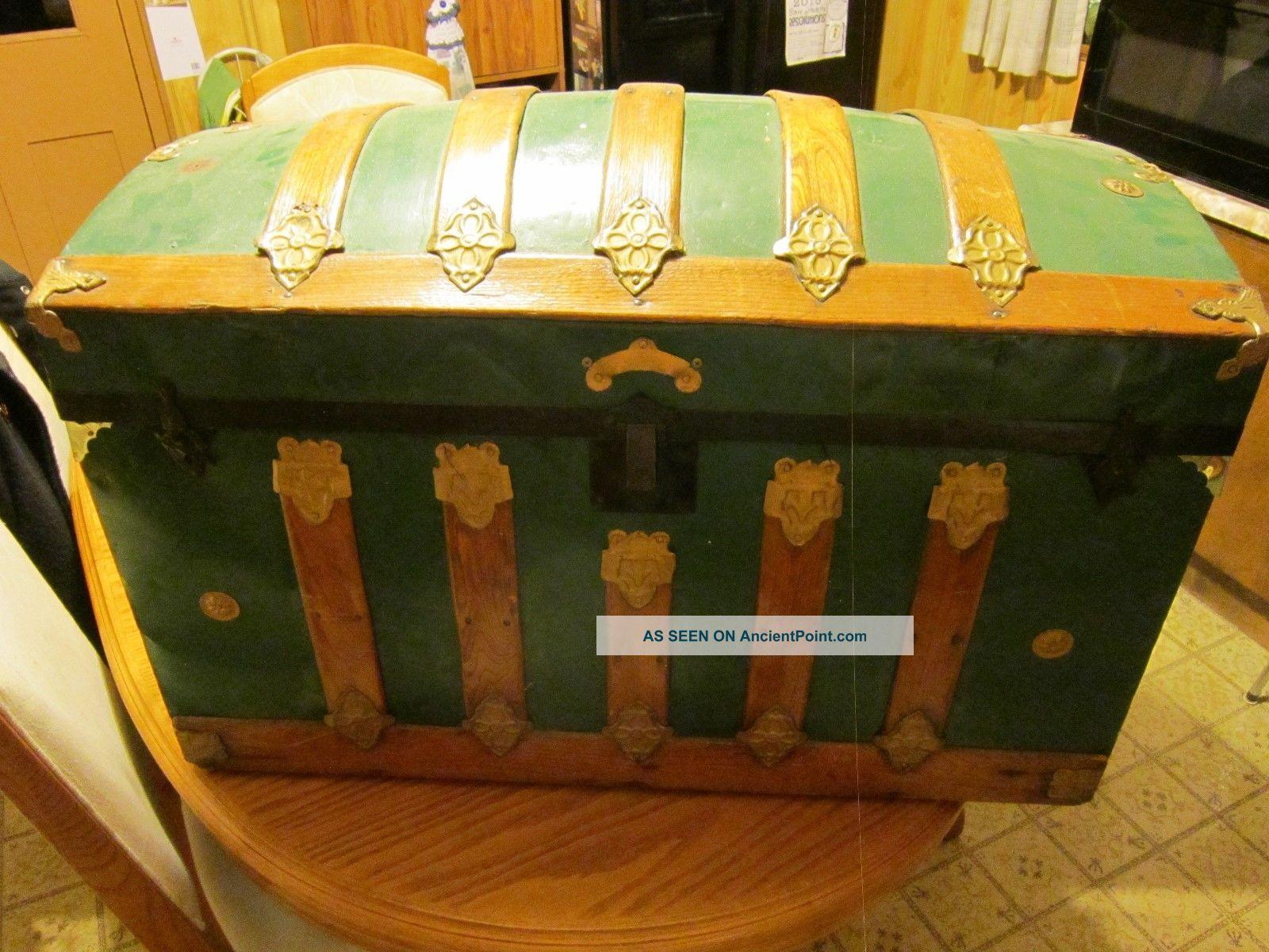 Vintage Camelback Trunk Storage Chest - - 34