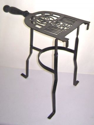 Vintage 1920 ' S Fireplace Hearth Footman Trivet Food Or Beverage Warmer photo