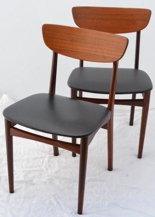 Modern Danish Design - Two X Teak Chairs - Eames Era photo