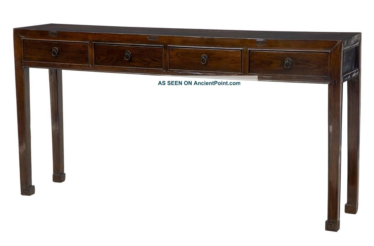 19th Century Chinese Lacquered Hardwood Console Table 1800-1899 photo
