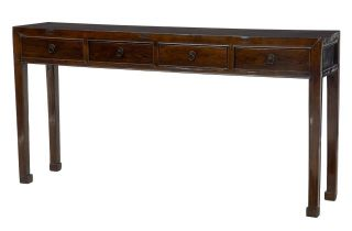 19th Century Chinese Lacquered Hardwood Console Table photo