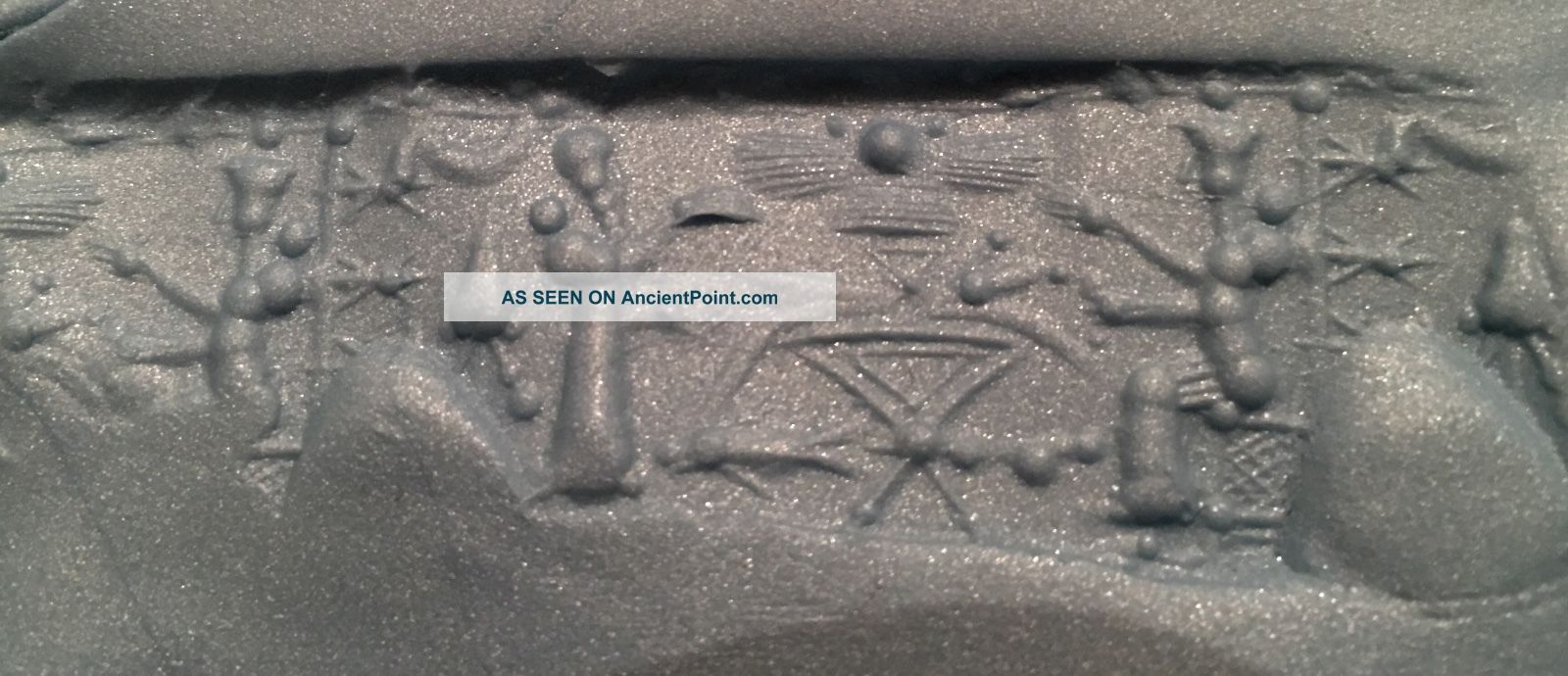 Ancient Near East White Stone Cylinder Seal Near Eastern photo