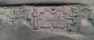 Ancient Near East White Stone Cylinder Seal photo