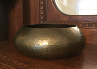 Roycroft Hammered Copper Bowl Early Mark