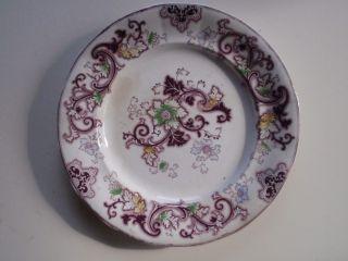 Staffordshire Purple Polychrome Plate,  Aurora By F.  Morley, photo