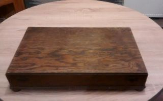 Solid Oak Anique Large Cutlery Box photo