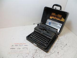 Antique 1939 Royal Aristocrat Typewriter - Black - Case & Acc.  - photo