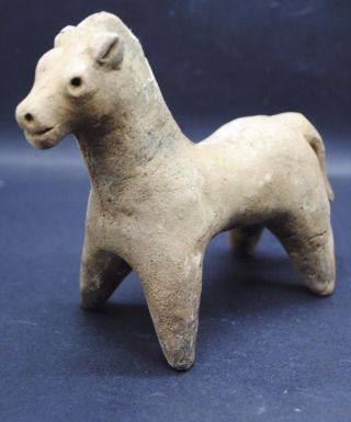Indus Valley Bronze Age Terracotta Horse Figurine 2200 - 1800 Bc photo
