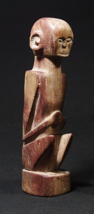 Wood Ancestor Figure - Atoni Belu Statue - Tribal Artifact,  West Timor photo