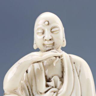 Exquisite Dehua Porcelain Handwork Rohan Statue D1204 photo