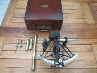Antique Sexant By Rm Barrett Octant,  Sextant. photo