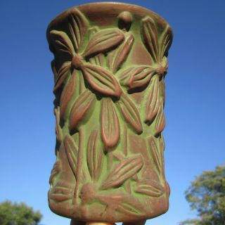 Arts Crafts Design Pottery Vase Antique Peters Reed Moss Aztec Matte Green Glaze photo