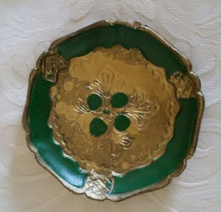 Sweet,  Charming Florentine Handcrafted Pin Tray Bought In Florence,  Italy 1980 photo