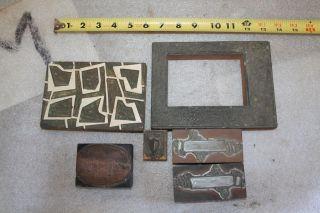Letterpress Printing Printers Block Railroad Tracks,  Frames,  Crest Shield photo