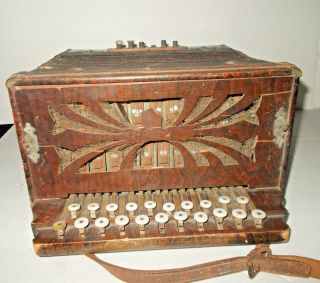 Antique Stahttone Accordion Made In Germany - Makes Sounds photo
