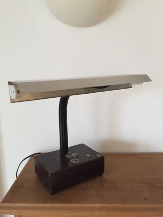 70s Vintage Industrial Japaness Desk Lamp 20th Century photo